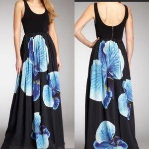 Alice + Olivia Floral Silk Maxi Dress